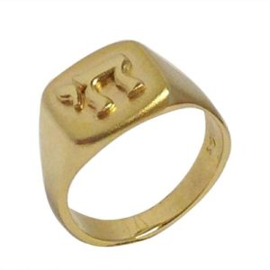 14k Gold Glossy and Matte Finished Hai Ring - Baltinester Jewelry