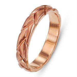 14k Rose Gold Braided Wedding Ring - Baltinester Jewelry