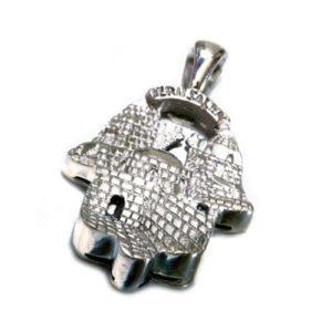 14k Gold Jerusalem Hamsa Pendant - Baltinester Jewelry