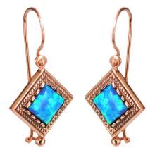 14k Rose Gold Yemenite Opal Earrings - Baltinester Jewelry