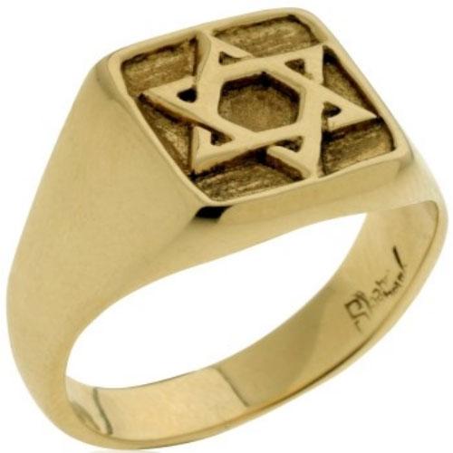 14k Gold Star of David Ring - Baltinester Jewelry