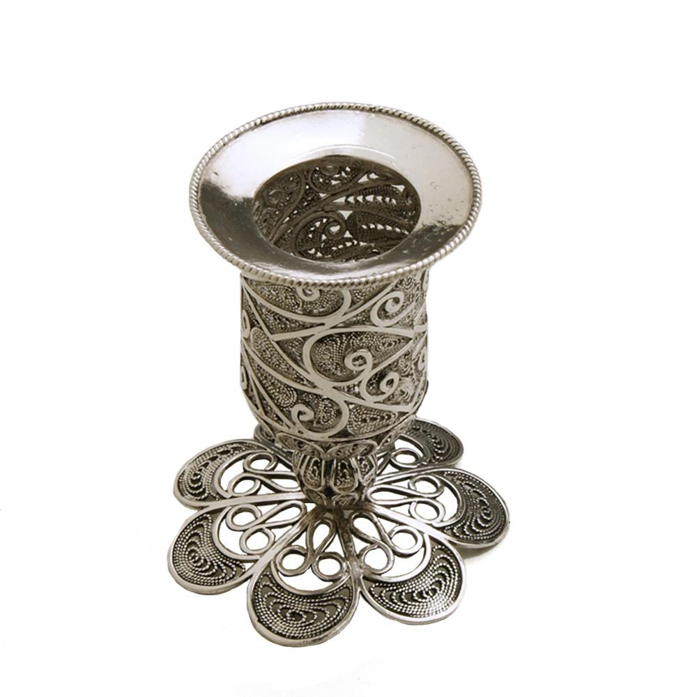 Artisan Sterling Silver Havdalah Candle Holder - Baltinester Jewelry