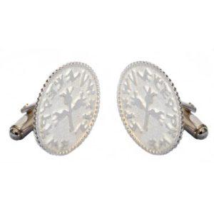 Silver Coin Design Cufflinks - Baltinester Jewelry