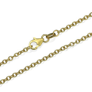 Rolo Link Chain in 14k Yellow Gold 2.3mm 16-24