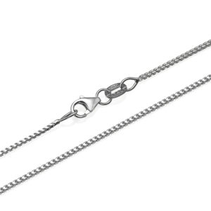 14k White Gold Franco Chain 1.1mm 16-28