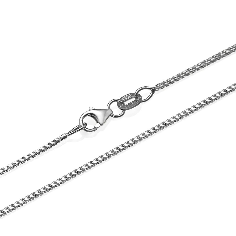 14k White Gold Franco Chain 1.1mm 16-28