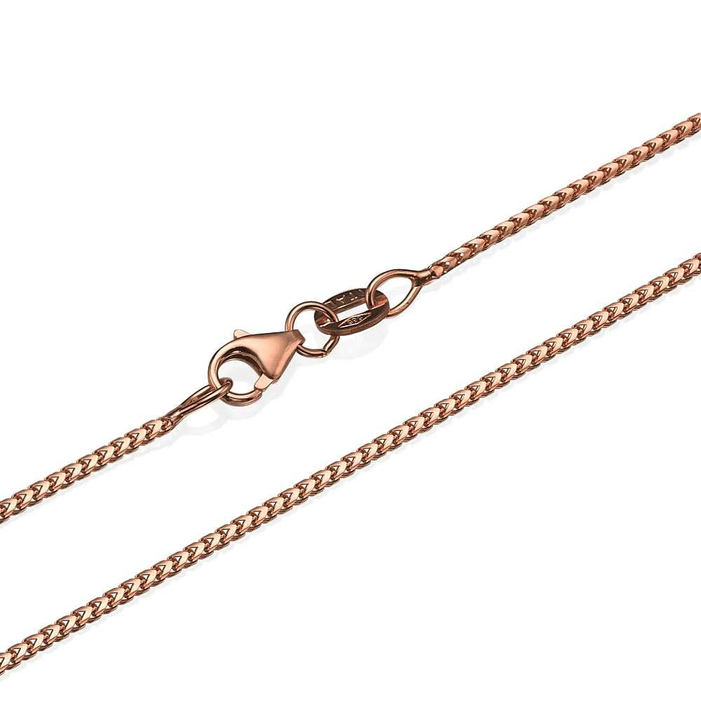 14k Rose Gold Franco Chain 1.1mm 16-24