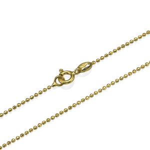Yellow Gold Diamond-Cut Ball Chain 1.3mm 16-24
