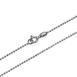 14k White Gold Diamond-Cut Ball Chain 1.3mm - Baltinester Jewelry