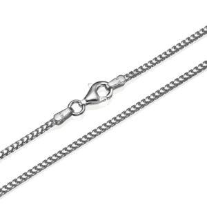 Franco Chain in 14k White Gold 1.5mm 16-28