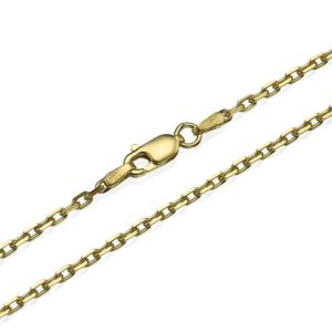 Anchor Link Chain in 14k Yellow Gold 2.1mm 16-24