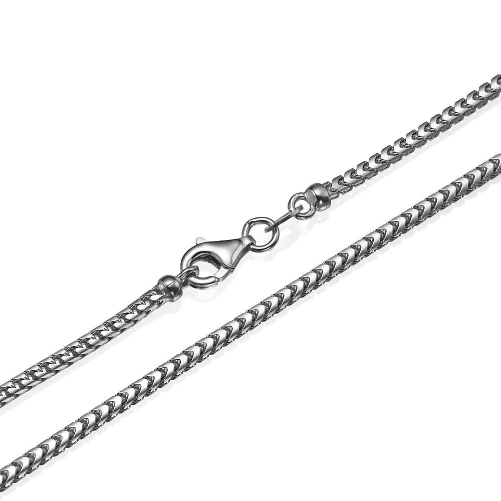 Franco Chain in 14k White Gold 2mm 16-28