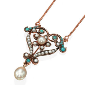 Heart Shaped Pearl Rose Gold Necklace - Baltinester Jewelry