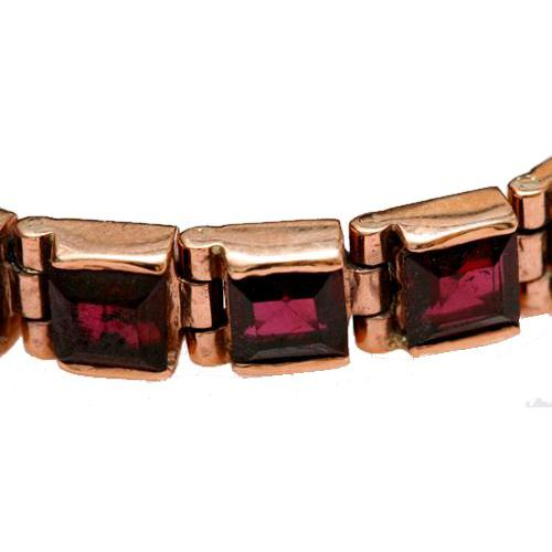 14k Rose Gold Garnet Tennis Bracelet 2 - Baltinester Jewelry