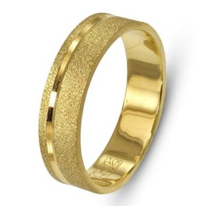 14k Gold Sandblasted Classic Wedding Ring - Baltinester Jewelry