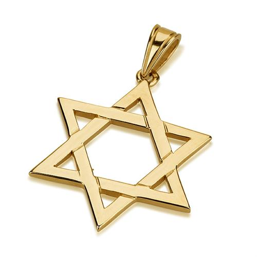 14K Gold Classic Star of David Pendant - Baltinester Jewelry