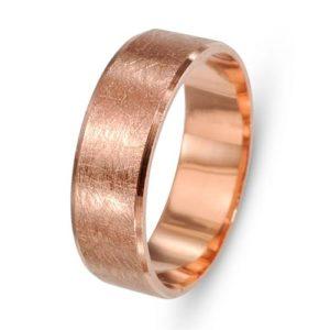 14k Rose Gold Brushed Wedding Band - Baltinester Jewelry