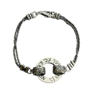 Oxidized Silver Evil Eye Protection Kabbalah Bracelet - Baltinester Jewelry