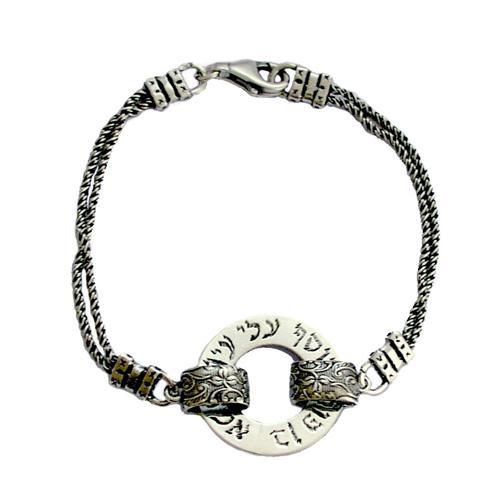 Oxidized Silver Evil Eye Protection Kabbalah Bracelet - Baltinester Jewelry