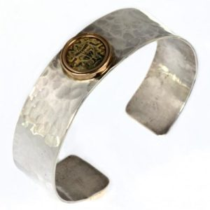 Ancient Masada Coin Silver Bracelet - Baltinester Jewelry