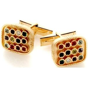 14k Gold Hoshen Cufflinks - Baltinester Jewelry