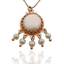 14k Rose Gold Chandelier Pendant - Baltinester Jewelry