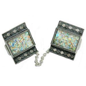 Silver Filigree Roman Glass Tallit Clip - Baltinester Jewelry