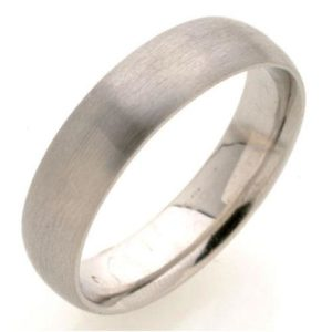 White Gold Comfort Fit Wedding Ring - Baltinester Jewelry