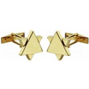 14k Gold Star of David Cufflinks - Baltinester Jewelry