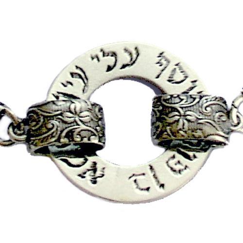 Oxidized Silver Evil Eye Protection Kabbalah Bracelet 2 - Baltinester Jewelry