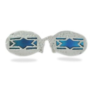 Enamel Colored Star of David Silver Tallit Clip - Baltinester Jewelry