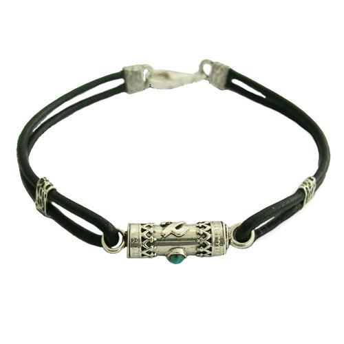 Silver Turquoise Tikkun Haklali Kabbalah Bracelet - Baltinester Jewelry