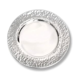 Silver Hammered Kiddush Plate - Baltinester Jewelry
