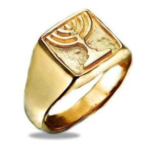 14k Gold Menorah Ring - Baltinester Jewelry