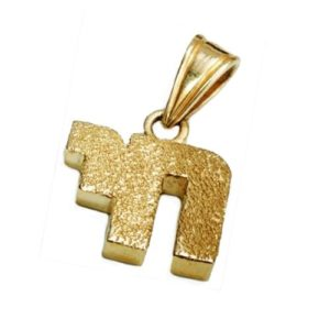 14k Gold Diamond-Cut Chai Pendant - Baltinester Jewelry