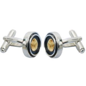Round Silver & Gold Classic Cufflinks - Baltinester Jewelry