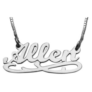 Silver Eternity Name Necklace - Baltinester Jewelry