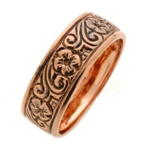 Rose Gold Antique Style Wedding Ring - Baltinester Jewelry