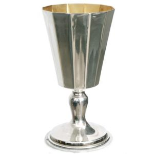 Modern Silver 12 Sided Kiddush Cup - Baltinester Jewelry