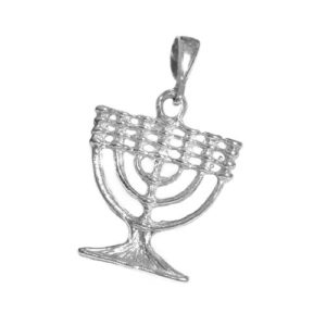 14k Gold Menorah Pendant - Baltinester Jewelry
