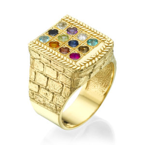Choshen Semi-Precious Stones Men's Signet Ring - Baltinester Jewelry
