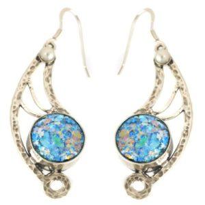 Angel Wing Roman Glass Earrings - Baltinester Jewelry