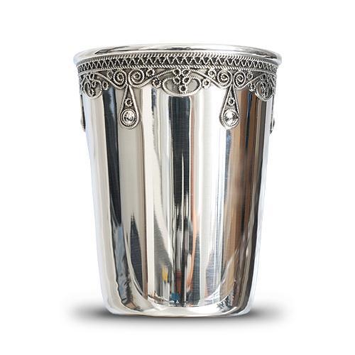 Silver Filigree Kiddush Cup - Baltinester Jewelry