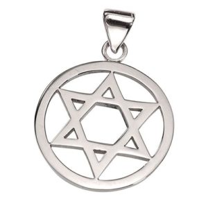 14k Gold Round Star of David Pendant - Baltinester Jewelry