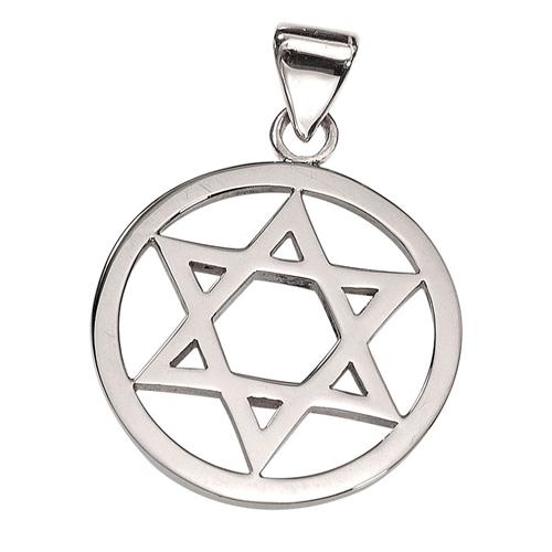 14k Gold Round Star of David Pendant - Baltinester Jewelry