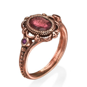 Raw Garnet Rose Gold Ring - Baltinester Jewelry