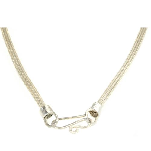 Tricolor Silver and Gold Oxidized Necklace 2 - Baltinester Jewelry