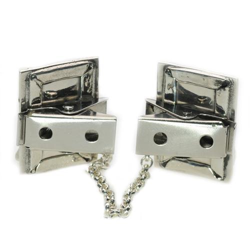 Enamel Multicolored Mezuzah Style Silver Tallis Clips 3 - Baltinester Jewelry