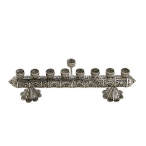 Intricate Sterling Silver Hanukkah Menorah - Baltinester Jewelry