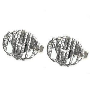 Sterling Silver Jerusalem Cufflinks - Baltinester Jewelry